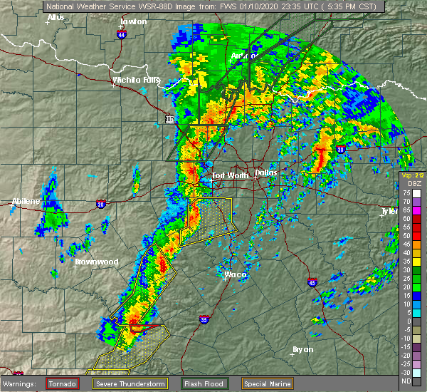 Radar Image for Severe Thunderstorms near Valley Mills, TX at 1/10/2020 5:41 PM CST