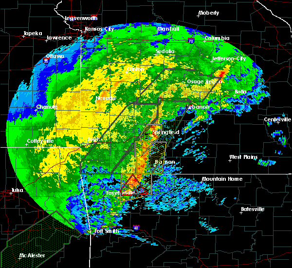 Radar Image for Severe Thunderstorms near Strafford, MO at 1/10/2020 5:46 PM CST