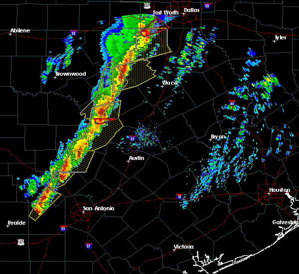 Radar Image for Severe Thunderstorms near Copperas Cove, TX at 1/10/2020 5:47 PM CST