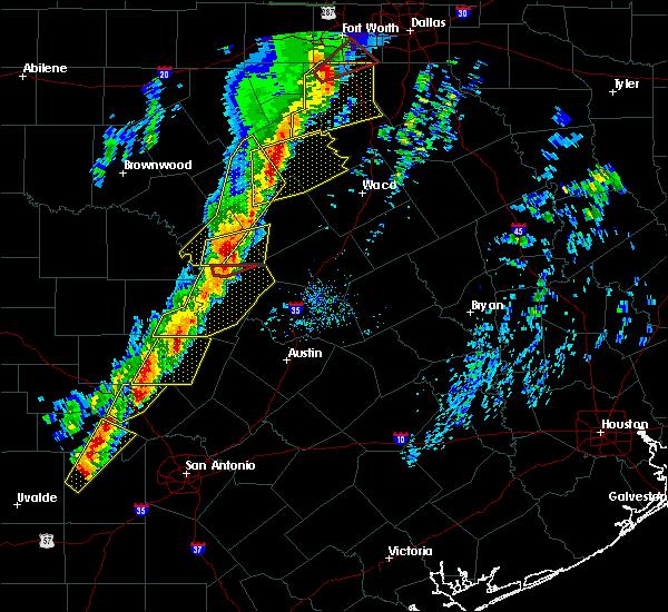 Radar Image for Severe Thunderstorms near Kempner, TX at 1/10/2020 5:47 PM CST