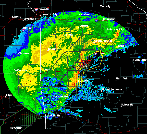 Radar Image for Severe Thunderstorms near Strafford, MO at 1/10/2020 5:58 PM CST