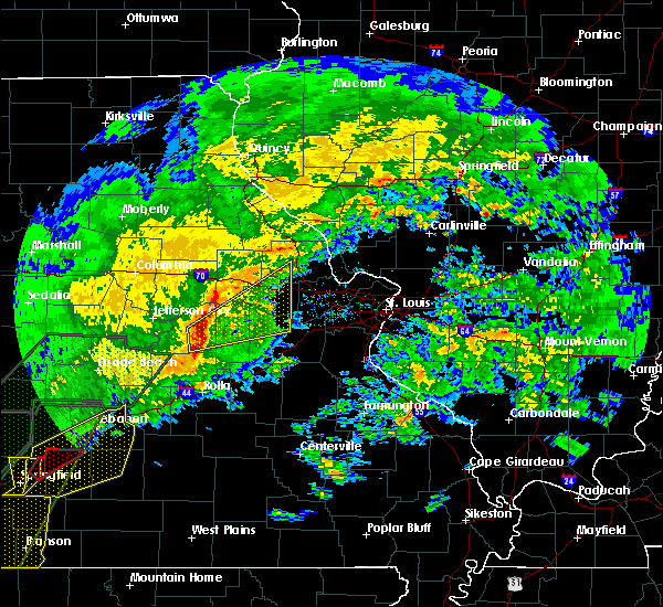 Radar Image for Severe Thunderstorms near Hermann, MO at 1/10/2020 6:01 PM CST