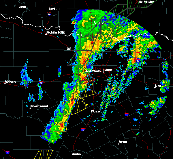 Radar Image for Severe Thunderstorms near Briaroaks, TX at 1/10/2020 6:01 PM CST