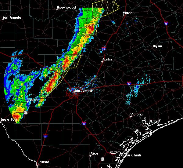 Radar Image for Severe Thunderstorms near Lake Medina Shores, TX at 1/10/2020 6:01 PM CST