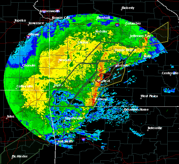 Radar Image for Severe Thunderstorms near Marshfield, MO at 1/10/2020 6:05 PM CST
