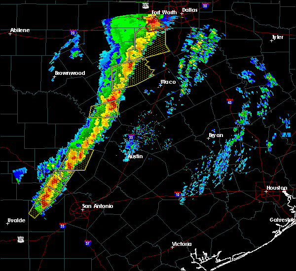 Radar Image for Severe Thunderstorms near Gatesville, TX at 1/10/2020 6:07 PM CST