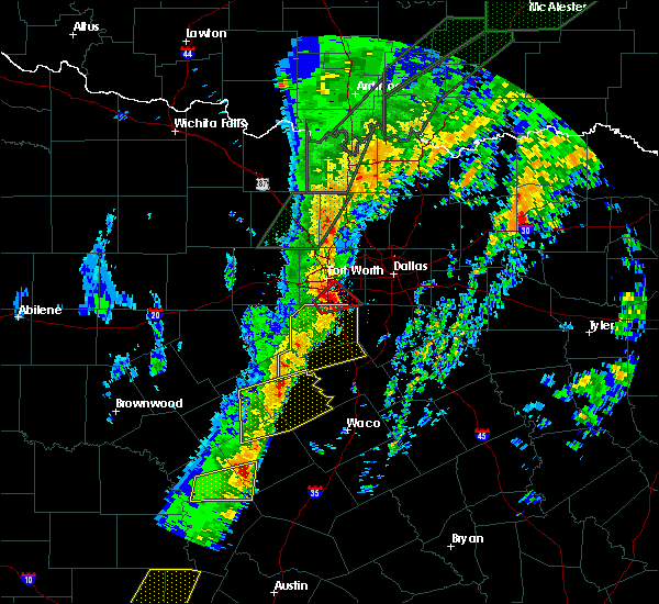 Radar Image for Severe Thunderstorms near Cooper, TX at 1/10/2020 6:07 PM CST