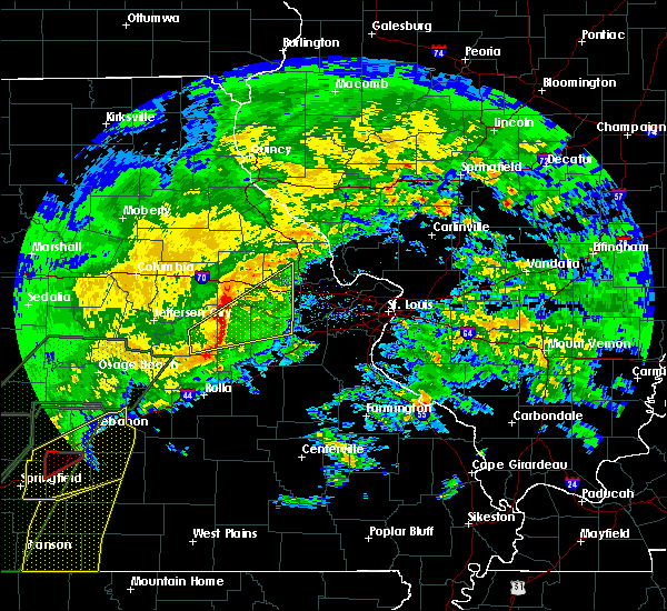 Radar Image for Severe Thunderstorms near Rhineland, MO at 1/10/2020 6:12 PM CST