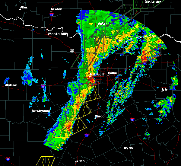 Radar Image for Severe Thunderstorms near Southlake, TX at 1/10/2020 6:13 PM CST