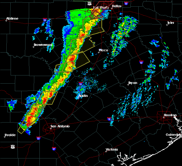 Radar Image for Severe Thunderstorms near Gatesville, TX at 1/10/2020 6:16 PM CST
