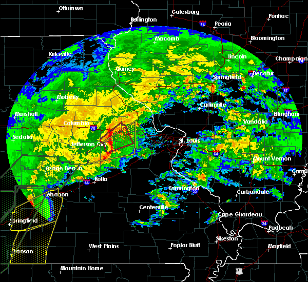 Radar Image for Severe Thunderstorms near Hermann, MO at 1/10/2020 6:23 PM CST