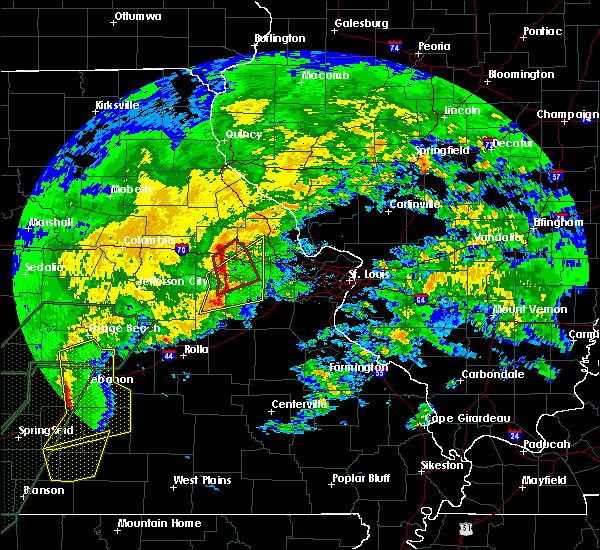 Radar Image for Severe Thunderstorms near Hermann, MO at 1/10/2020 6:33 PM CST