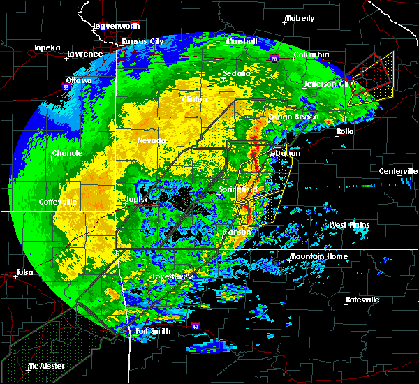 Radar Image for Severe Thunderstorms near Bennett Springs, MO at 1/10/2020 6:32 PM CST