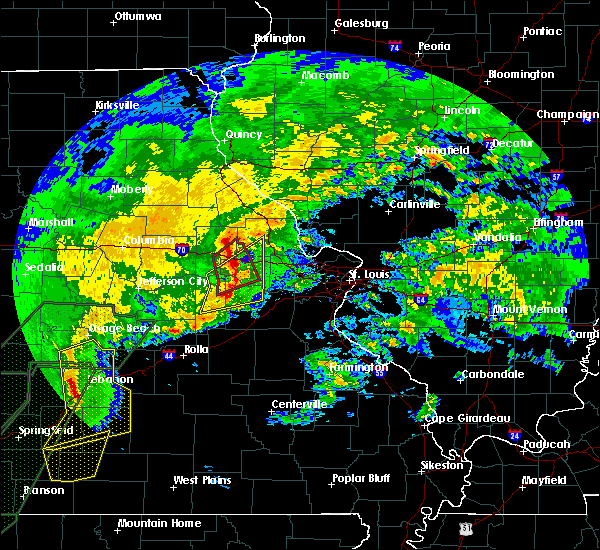 Radar Image for Severe Thunderstorms near Whiteside, MO at 1/10/2020 6:38 PM CST