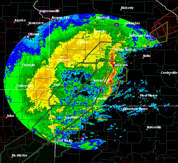 Radar Image for Severe Thunderstorms near Norwood, MO at 1/10/2020 6:46 PM CST
