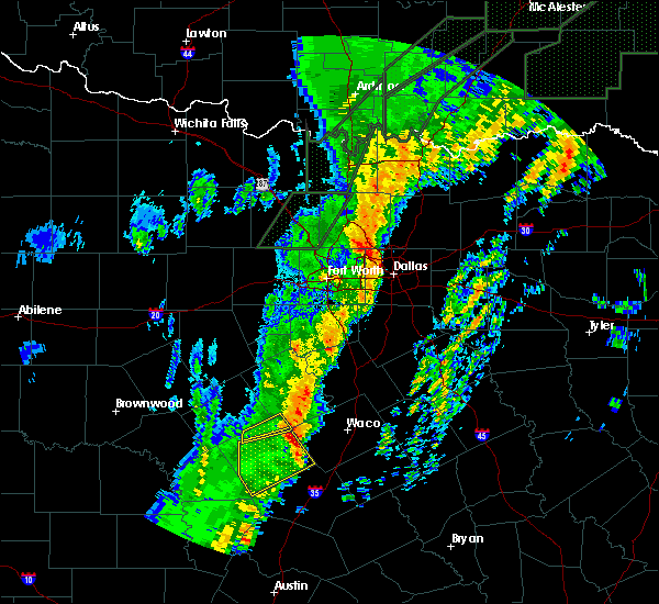 Radar Image for Severe Thunderstorms near Irving, TX at 1/10/2020 6:49 PM CST