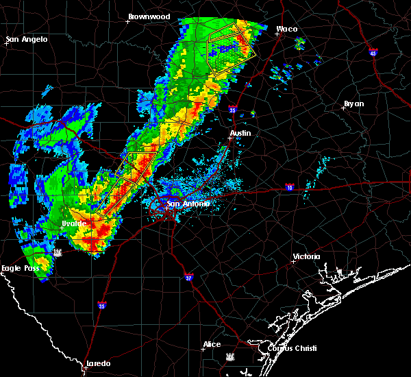 Radar Image for Severe Thunderstorms near Wimberley, TX at 1/10/2020 6:49 PM CST
