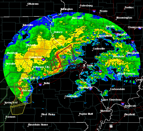 Radar Image for Severe Thunderstorms near Whiteside, MO at 1/10/2020 6:52 PM CST