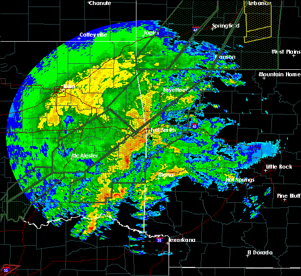 Radar Image for Severe Thunderstorms near Detroit, TX at 1/10/2020 7:01 PM CST