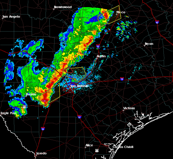 Radar Image for Severe Thunderstorms near Bulverde, TX at 1/10/2020 7:02 PM CST