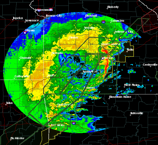 Radar Image for Severe Thunderstorms near Richland, MO at 1/10/2020 7:04 PM CST