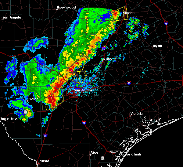 Radar Image for Severe Thunderstorms near Johnson City, TX at 1/10/2020 7:06 PM CST