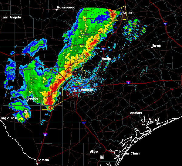 Radar Image for Severe Thunderstorms near LaCoste, TX at 1/10/2020 7:08 PM CST