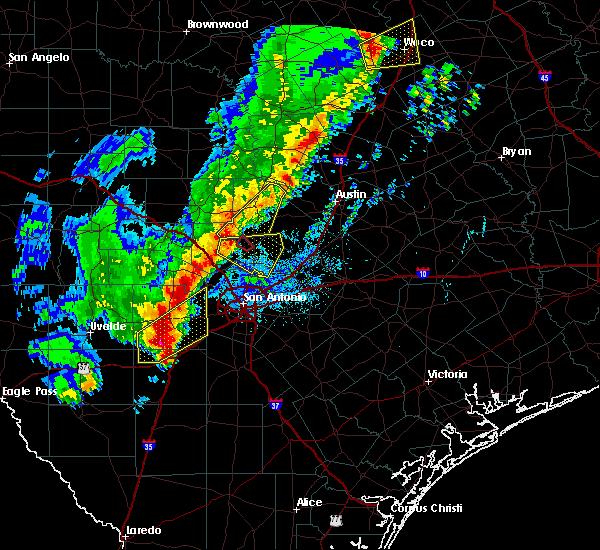 Radar Image for Severe Thunderstorms near San Antonio, TX at 1/10/2020 7:08 PM CST