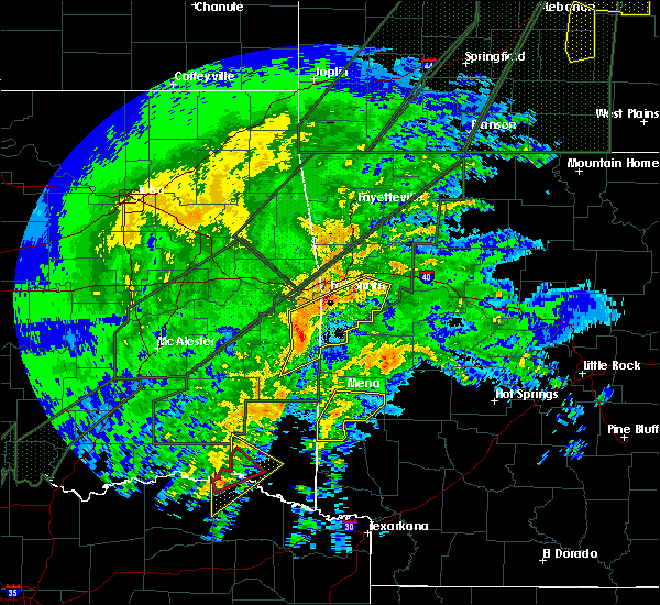 Radar Image for Severe Thunderstorms near Ratcliff, AR at 1/10/2020 7:15 PM CST