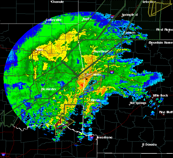 Radar Image for Severe Thunderstorms near Huntington, AR at 1/10/2020 7:20 PM CST