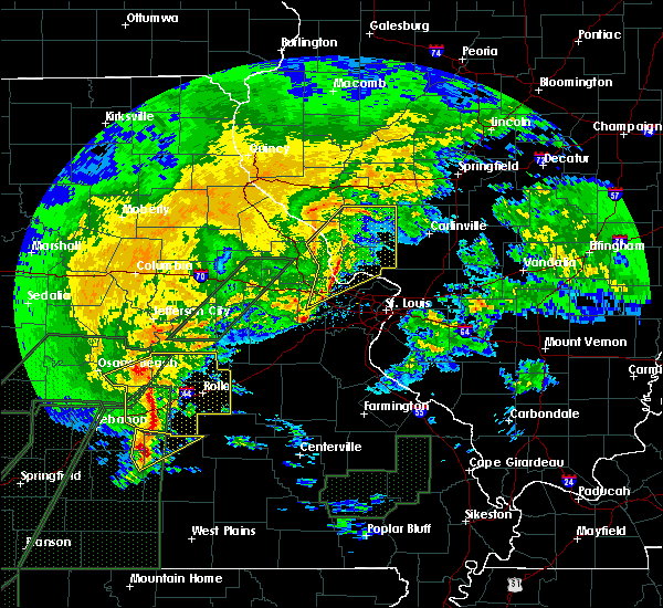 Radar Image for Severe Thunderstorms near Argyle, MO at 1/10/2020 7:23 PM CST