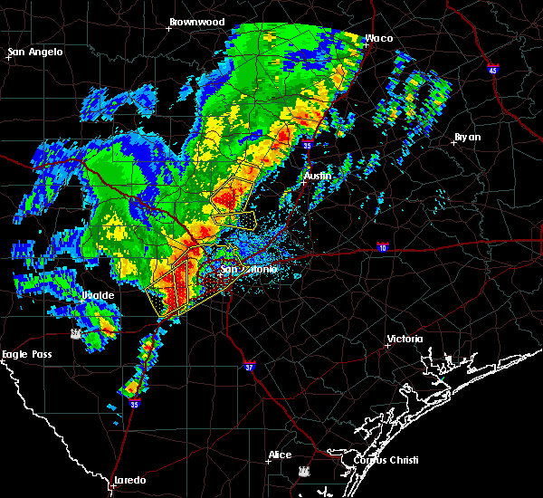 Radar Image for Severe Thunderstorms near Cibolo, TX at 1/10/2020 7:23 PM CST