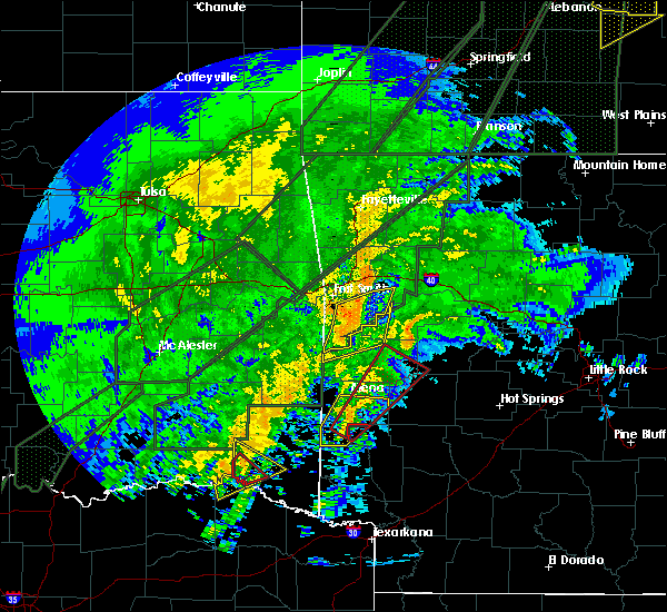 Radar Image for Severe Thunderstorms near New Blaine, AR at 1/10/2020 7:30 PM CST