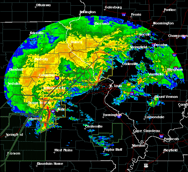 Radar Image for Severe Thunderstorms near Grafton, IL at 1/10/2020 7:34 PM CST