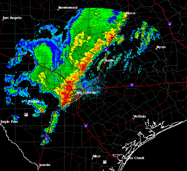 Radar Image for Severe Thunderstorms near Johnson City, TX at 1/10/2020 7:34 PM CST