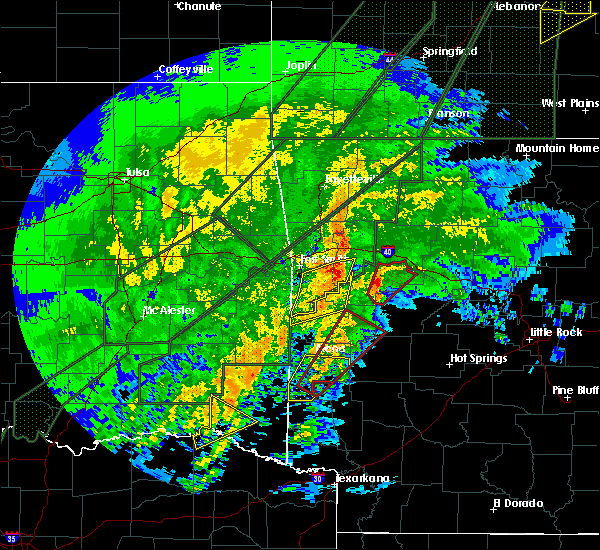 Radar Image for Severe Thunderstorms near New Blaine, AR at 1/10/2020 7:43 PM CST