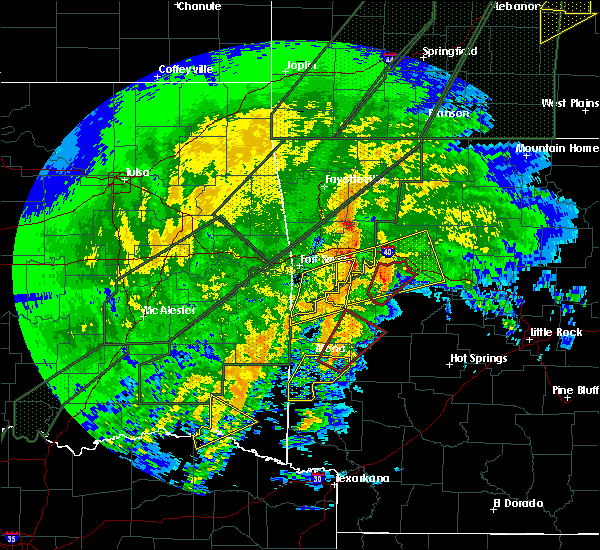 Radar Image for Severe Thunderstorms near New Blaine, AR at 1/10/2020 7:51 PM CST