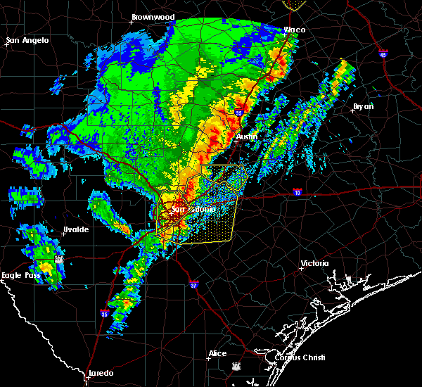Radar Image for Severe Thunderstorms near Cibolo, TX at 1/10/2020 8:03 PM CST