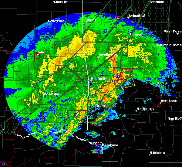 Radar Image for Severe Thunderstorms near Omaha, AR at 1/10/2020 8:08 PM CST