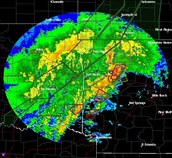 Radar Image for Severe Thunderstorms near Hatfield, AR at 1/10/2020 8:16 PM CST