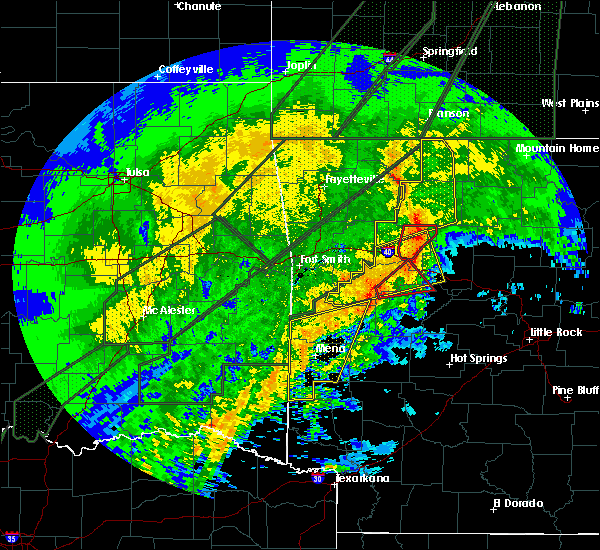 Radar Image for Severe Thunderstorms near Danville, AR at 1/10/2020 8:32 PM CST