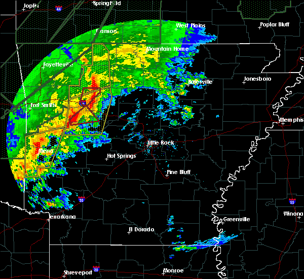 Radar Image for Severe Thunderstorms near Pindall, AR at 1/10/2020 8:34 PM CST