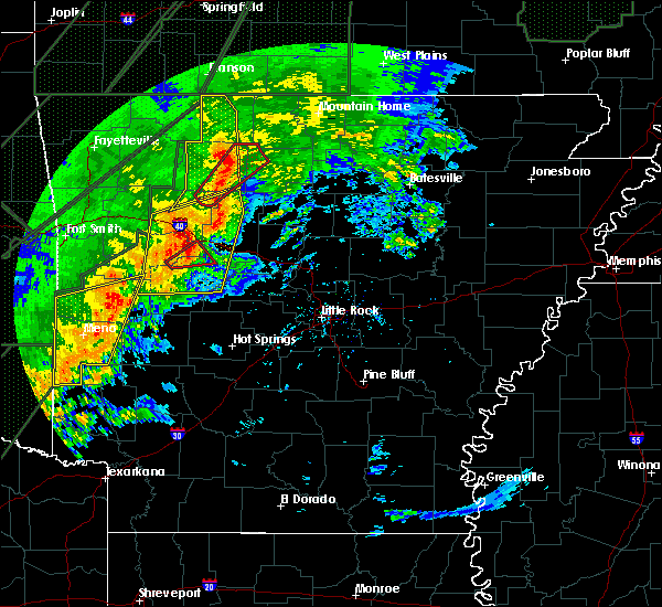 Radar Image for Severe Thunderstorms near Mountain Home, AR at 1/10/2020 8:49 PM CST
