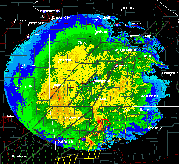 Radar Image for Severe Thunderstorms near Western Grove, AR at 1/10/2020 8:51 PM CST