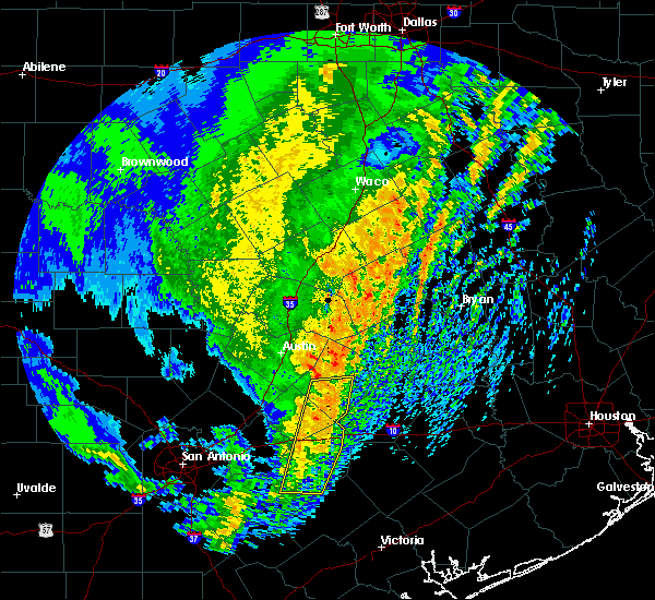 Radar Image for Severe Thunderstorms near Giddings, TX at 1/10/2020 9:04 PM CST