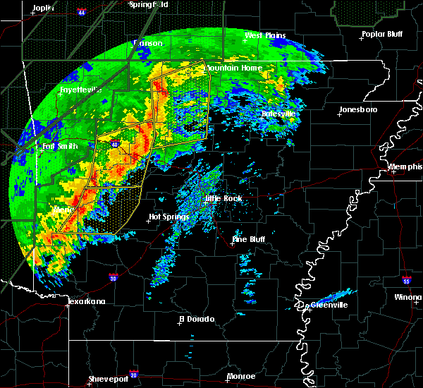 Radar Image for Severe Thunderstorms near Houston, AR at 1/10/2020 9:12 PM CST