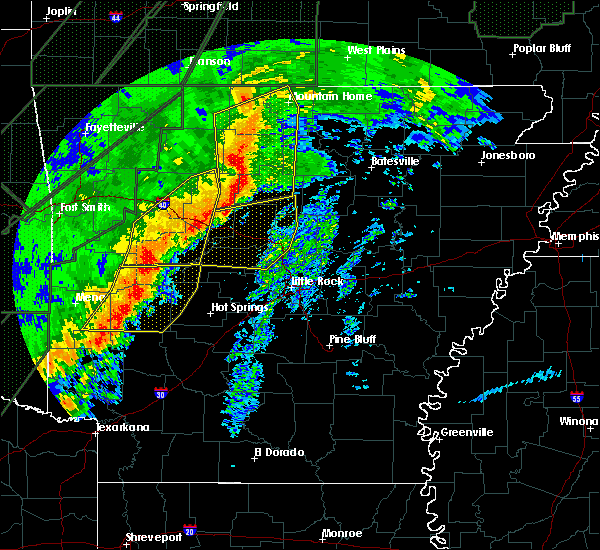 Radar Image for Severe Thunderstorms near Danville, AR at 1/10/2020 9:31 PM CST