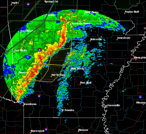 Radar Image for Severe Thunderstorms near Norman, AR at 1/10/2020 9:43 PM CST