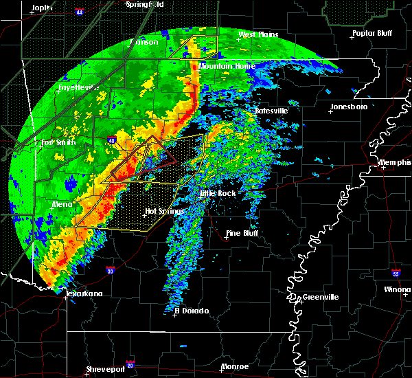Radar Image for Severe Thunderstorms near Guion, AR at 1/10/2020 9:59 PM CST