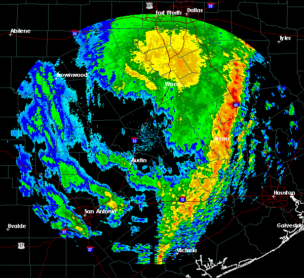 Radar Image for Severe Thunderstorms near Normangee, TX at 1/10/2020 10:23 PM CST